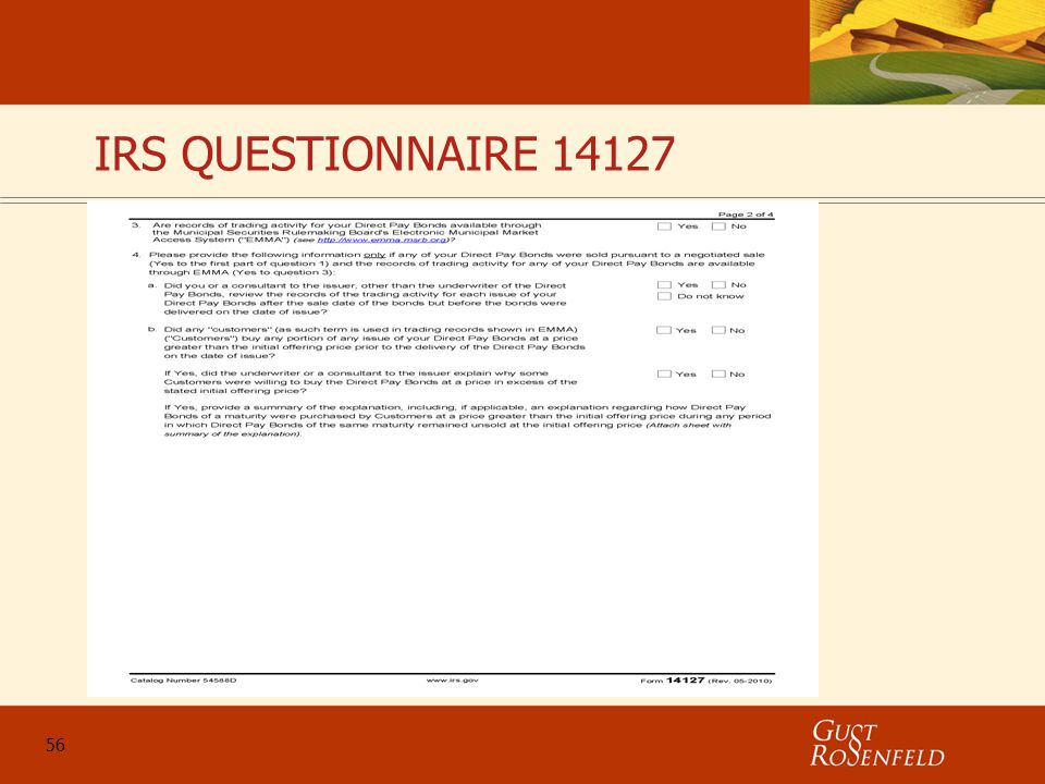 56 IRS QUESTIONNAIRE 14127