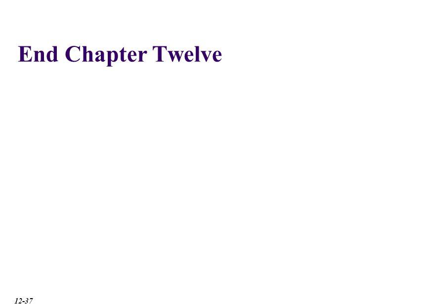 End Chapter Twelve 12-37