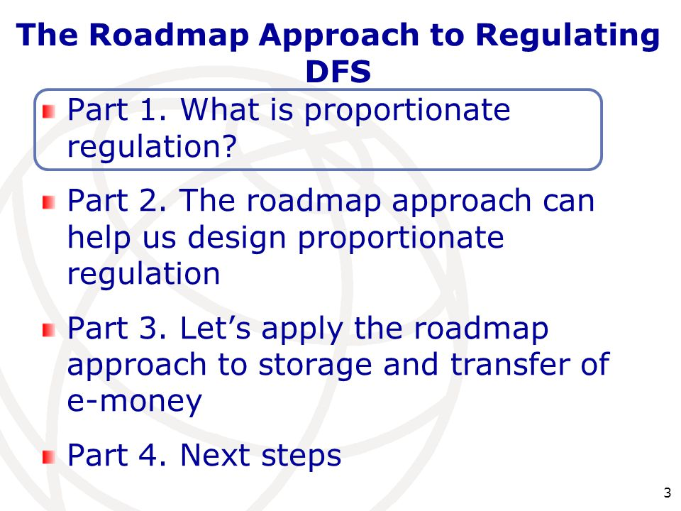 3 Part 1. What is proportionate regulation. Part 2.