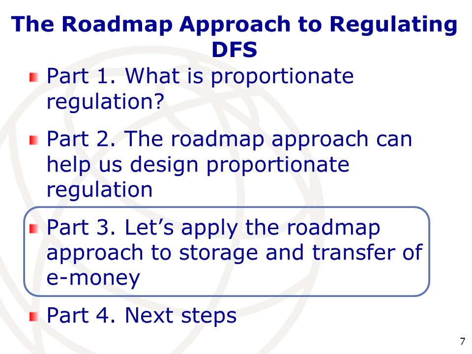 7 Part 1. What is proportionate regulation. Part 2.
