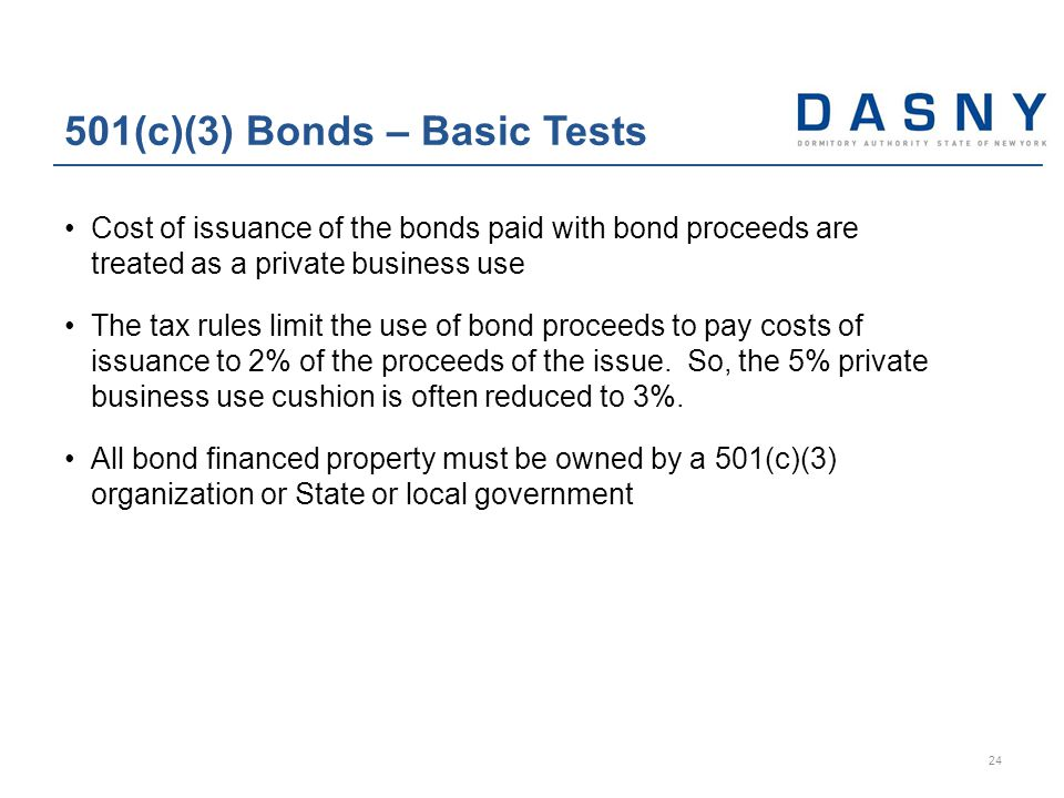 Cost of issuance of the bonds paid with bond proceeds are treated as a private business use The tax rules limit the use of bond proceeds to pay costs of issuance to 2% of the proceeds of the issue.