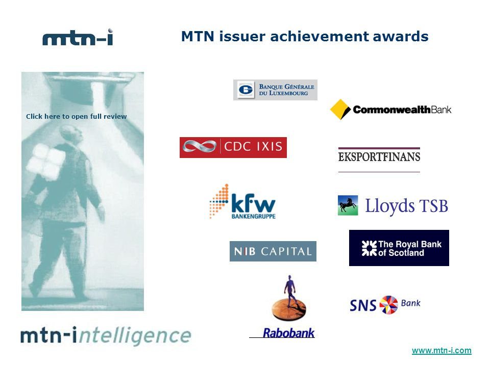 MTN issuer achievement awards Click here to open full review www.mtn-i.com