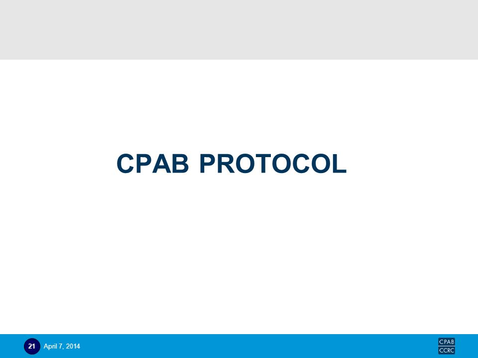 CPAB PROTOCOL April 7, 201421