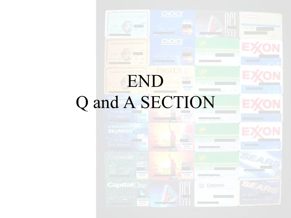END Q and A SECTION