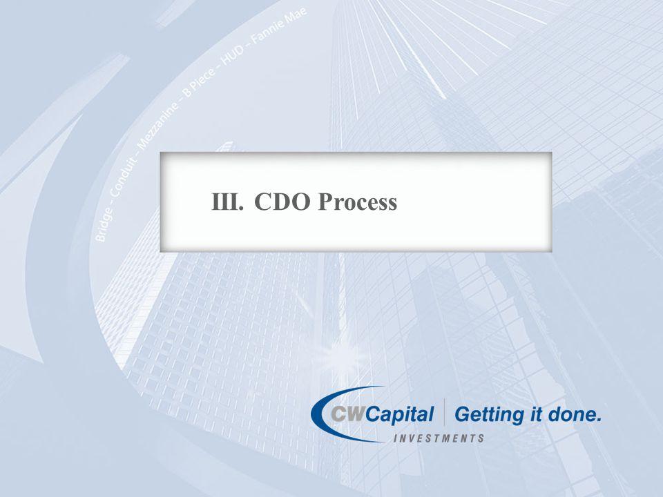 14 III. CDO Process