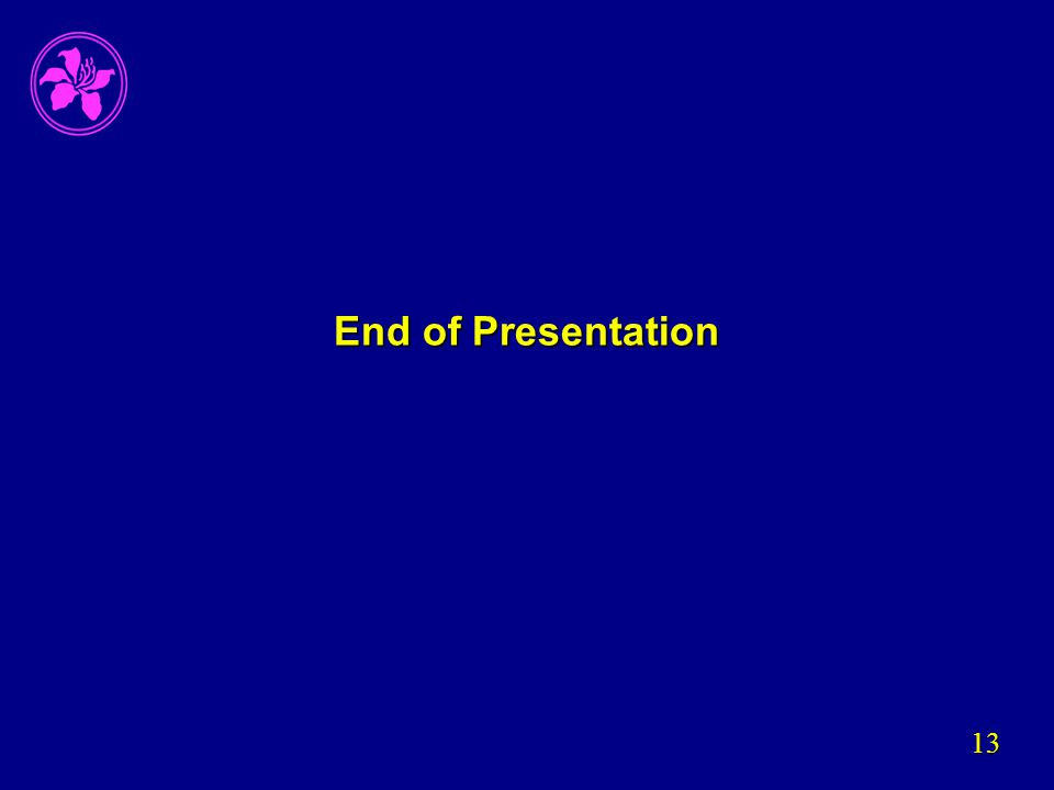 13 End of Presentation