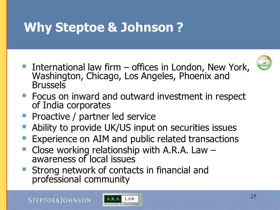 25 Why Steptoe & Johnson .