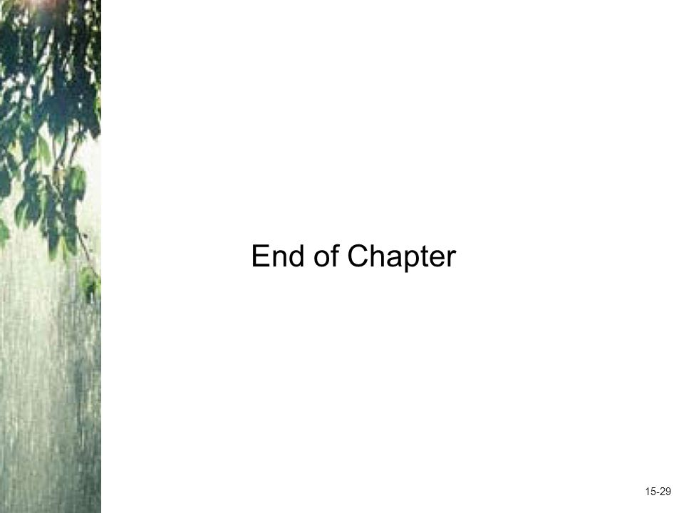 End of Chapter 15-29