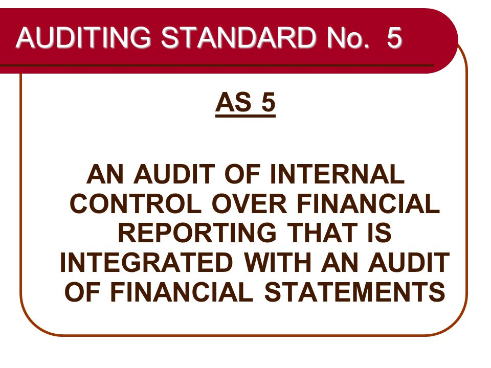 43 AUDITING STANDARD No.