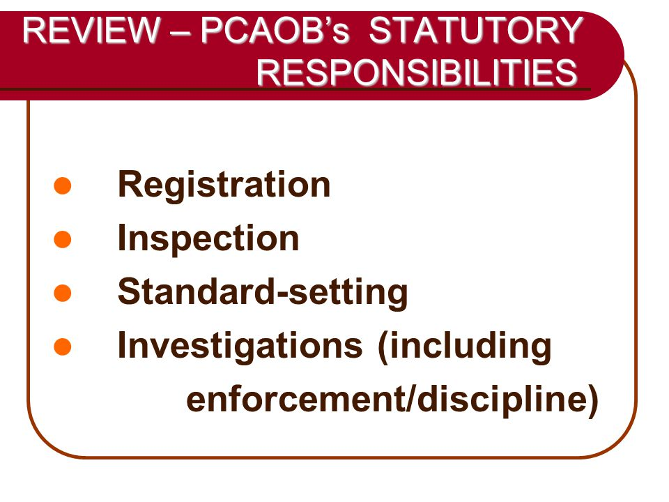 38 SOURCES OF INVESTIGATIONS Issuer disclosures (SEC filings) Auditor changes Restatements Public news sources Tips Other regulators Other PCAOB divisions and offices Office of Research & Analysis Division of Registration and Inspections