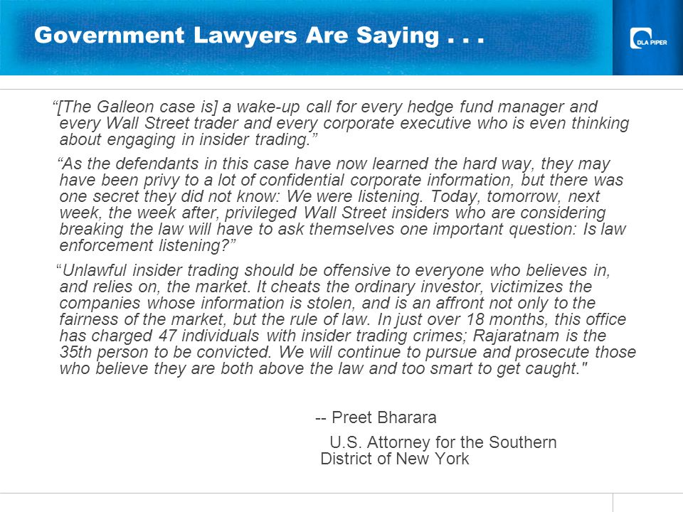 Government Lawyers Are Saying...