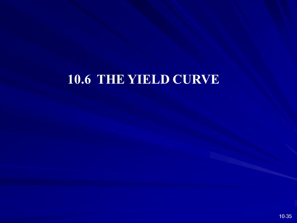 10-35 10.6 THE YIELD CURVE