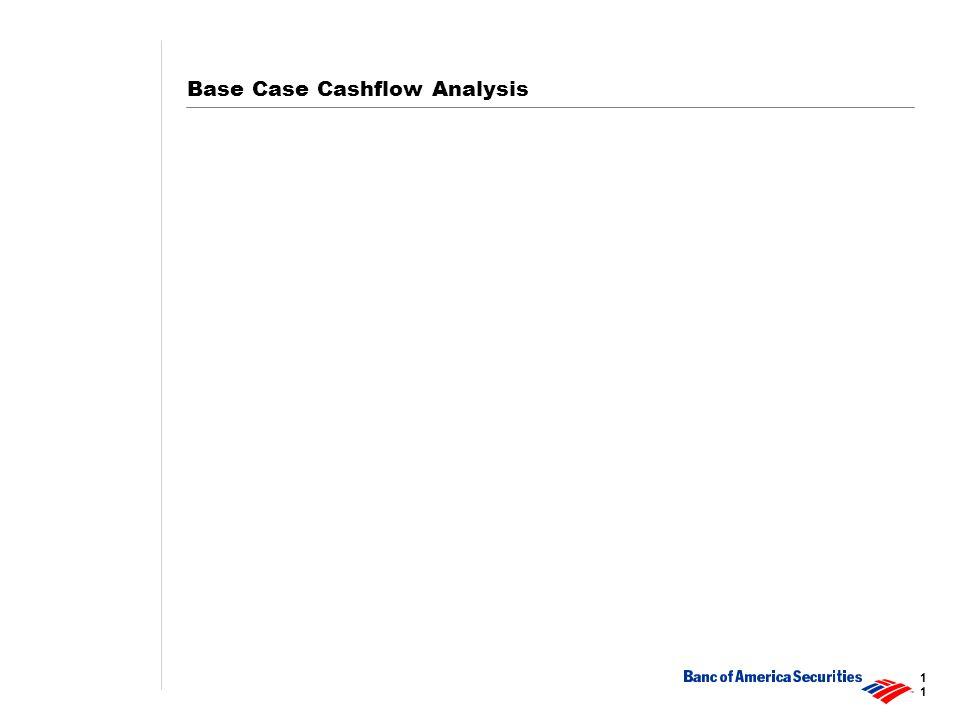 1 Base Case Cashflow Analysis
