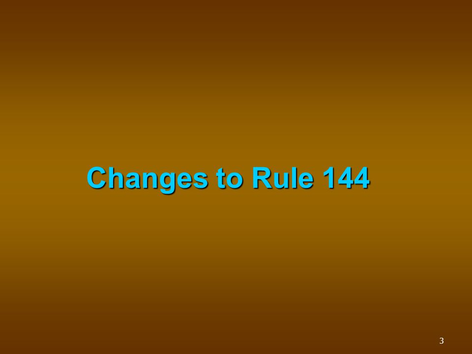 Background Safe harbor exemption from 1933 Act registration requirements for resales of securities.