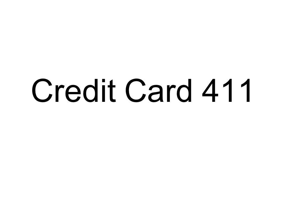 Credit Card 411