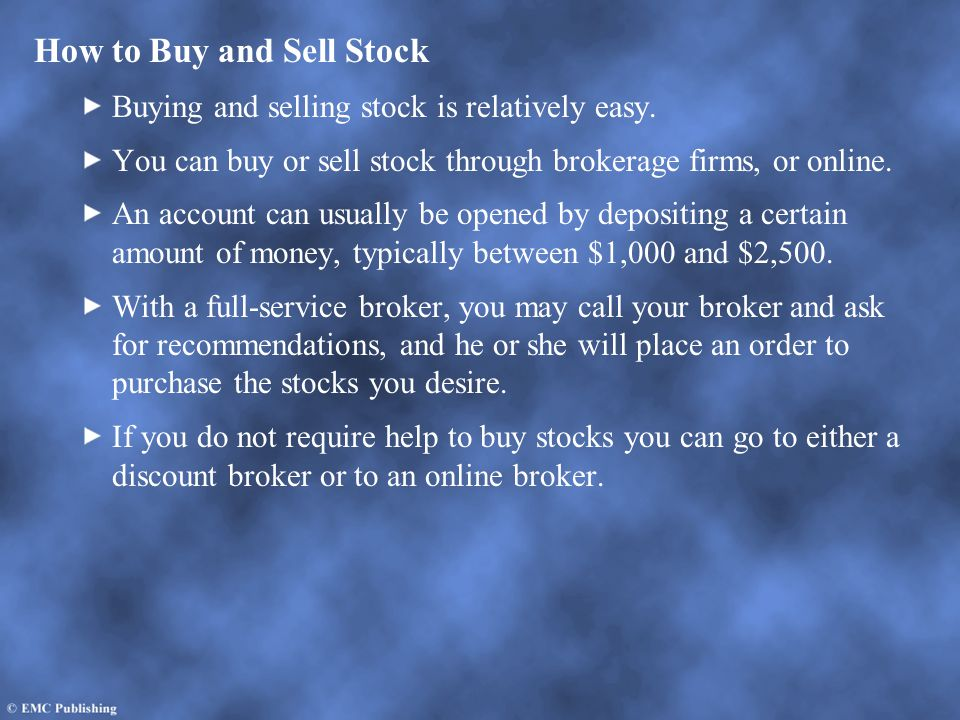 Deciding Which Stocks to Buy One way to buy stocks is to purchase shares of companies that are familiar to you, such as Coca Cola, Disney, or Microsoft.