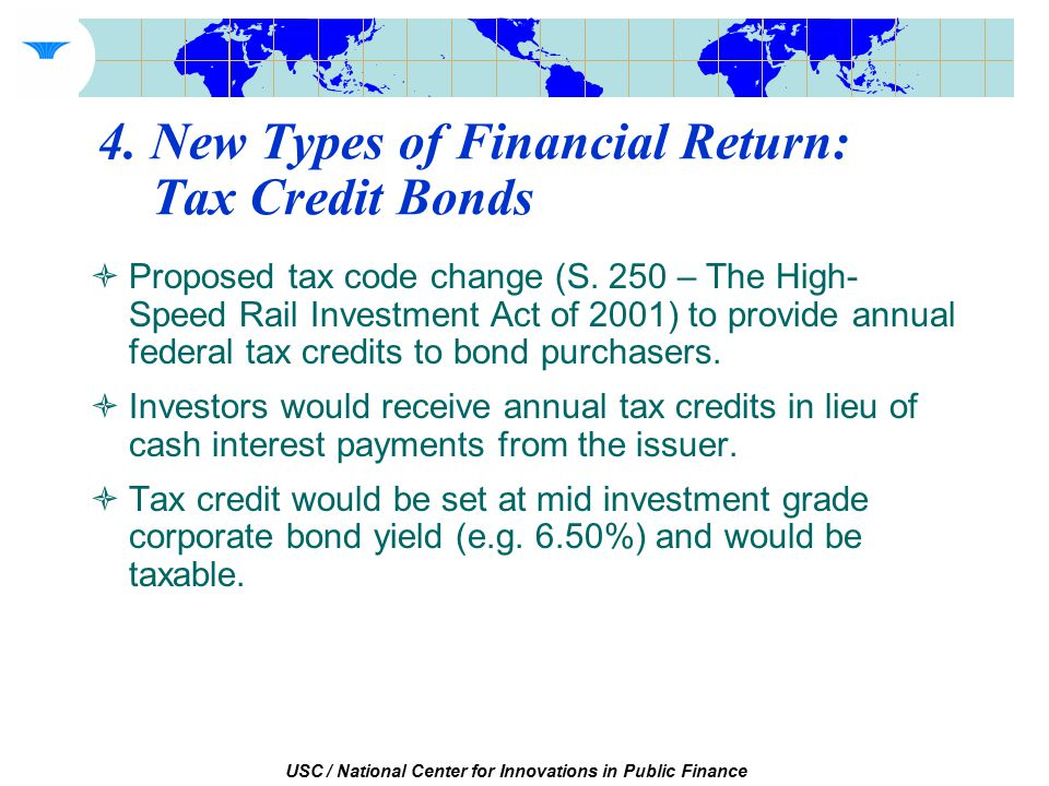 USC / National Center for Innovations in Public Finance  Proposed tax code change (S.