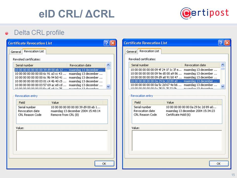 15 Delta CRL profile eID CRL/ ΔCRL