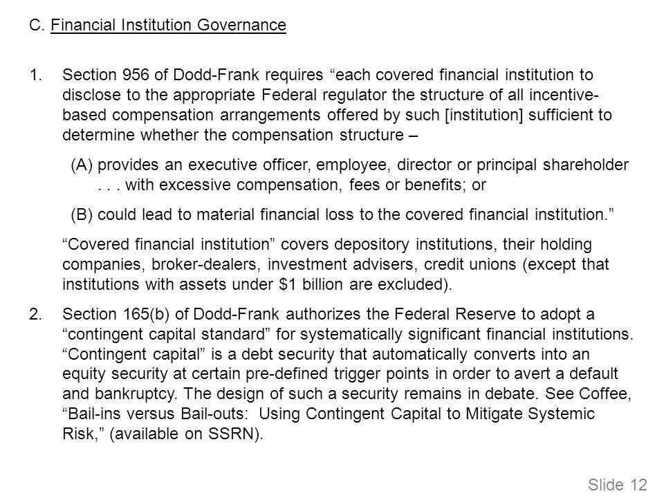 D.Enforcement and Litigation Remedies 1. Whistleblower Bounties 1.Whistleblower Bounties.