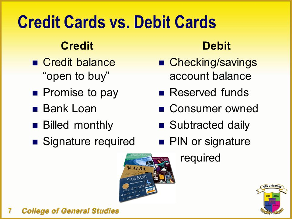 7 Credit Cards vs.