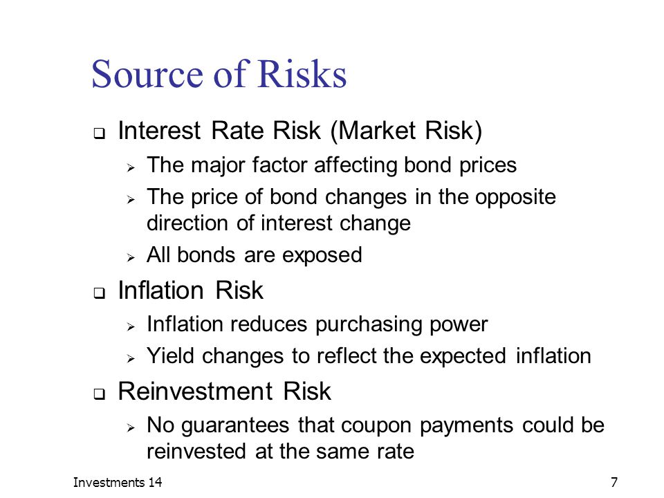 Investments 1428 Source of Risks – Foreign Bonds