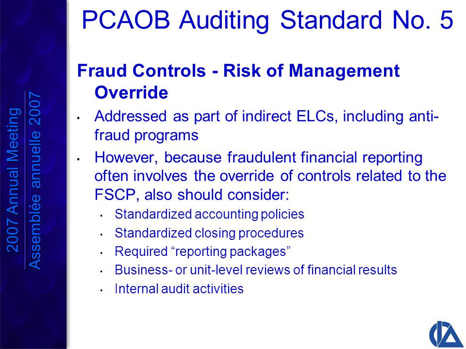 PCAOB Auditing Standard No.