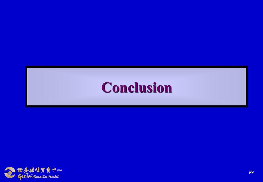 99 Conclusion