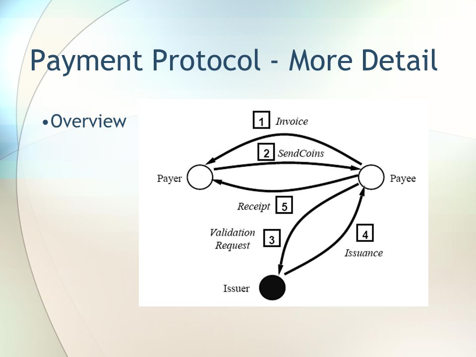 Payment Protocol - More Detail Overview
