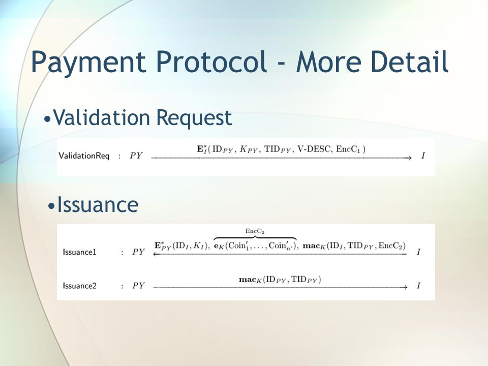 Payment Protocol - More Detail Validation Request Issuance