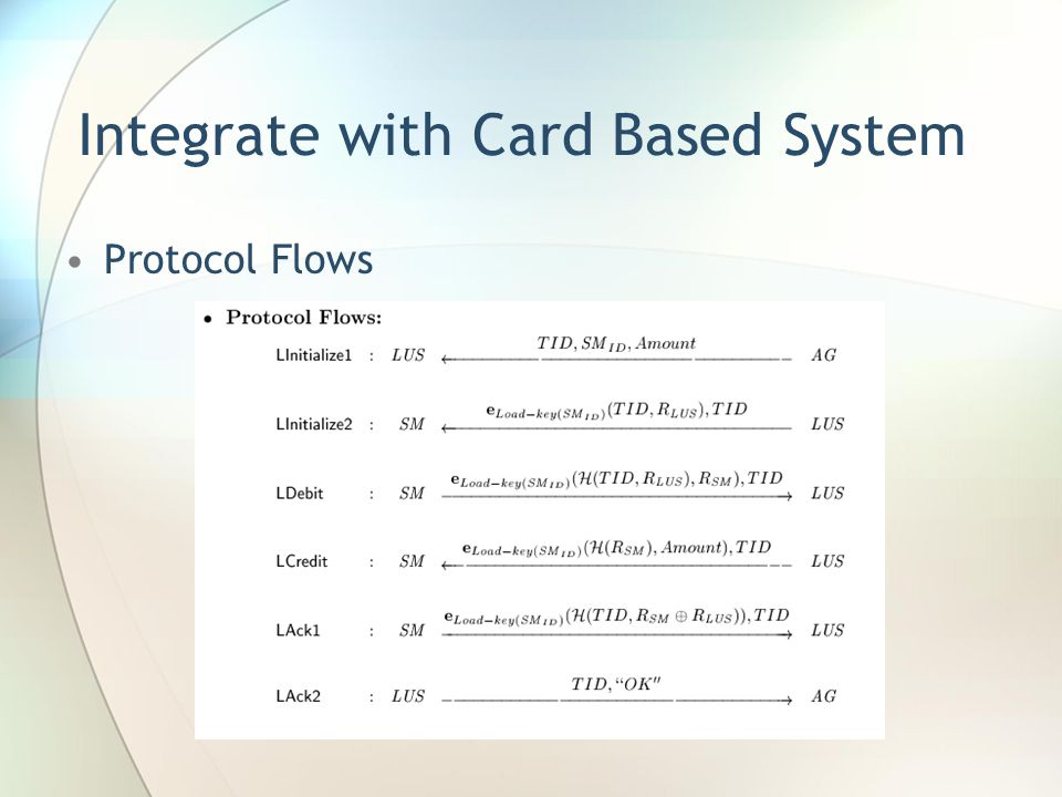 Integrate with Card Based System Protocol Flows