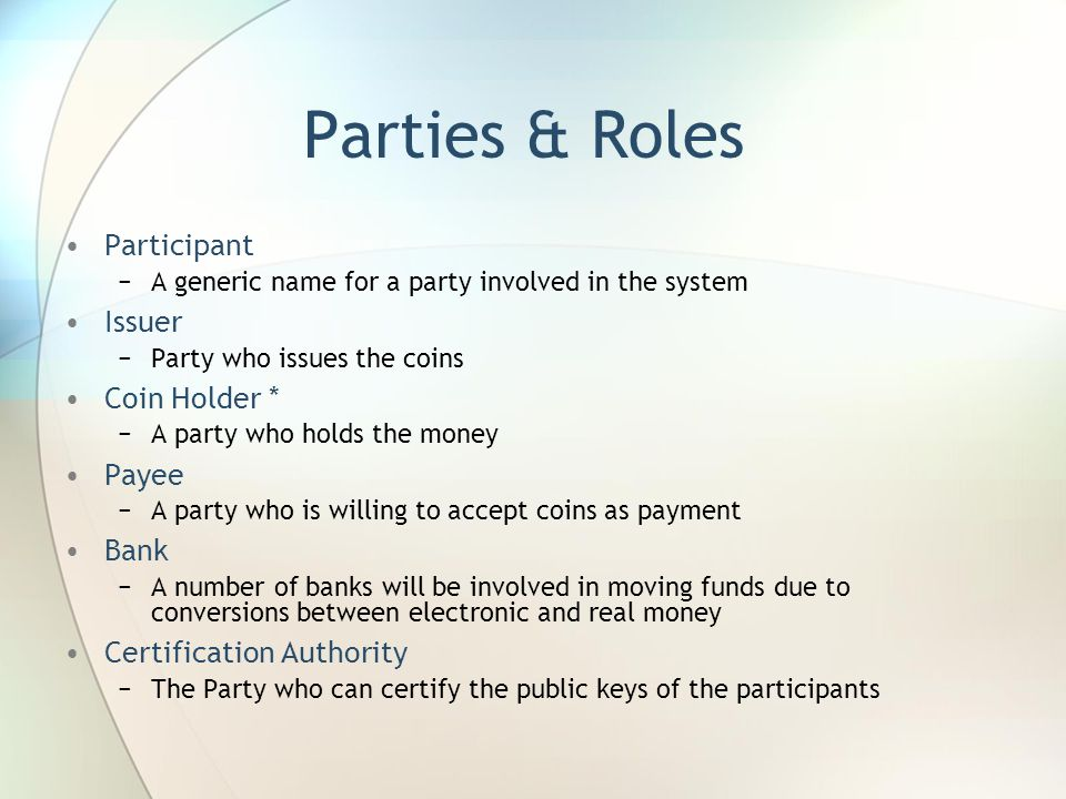 Coin Purchase Protocol More Detail Terminology Overview