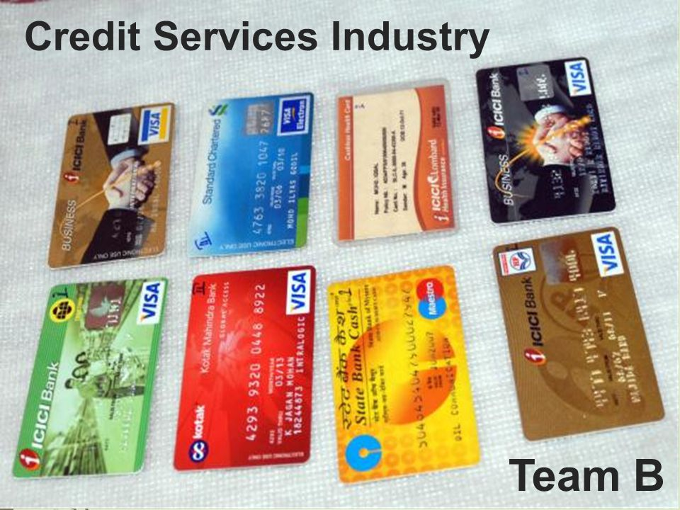 Credit Services Industry Team B