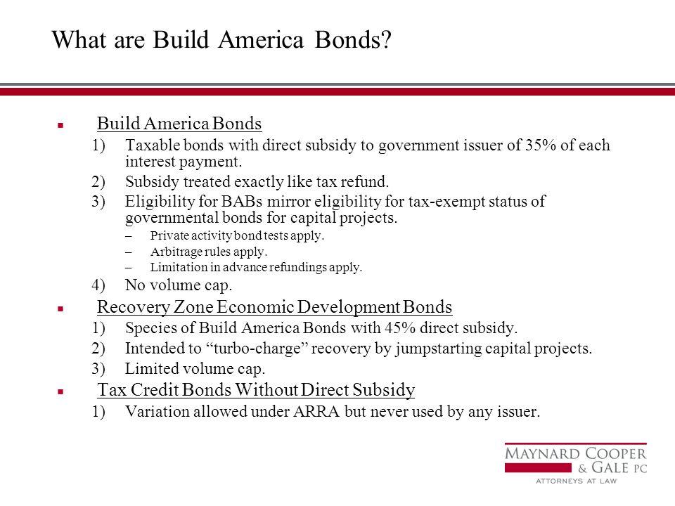 What are Build America Bonds.