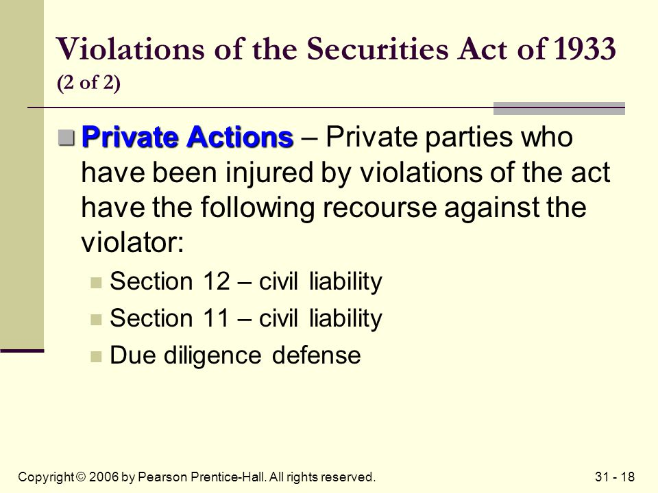 31 - 18Copyright © 2006 by Pearson Prentice-Hall. All rights reserved.