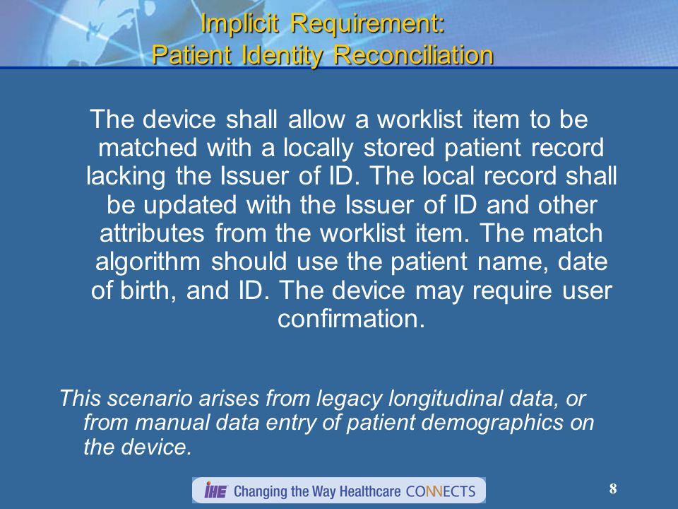 9 Implicit Requirement: Protocol Coding The device shall support site configuration of protocol codes for the procedure steps supported by the device.