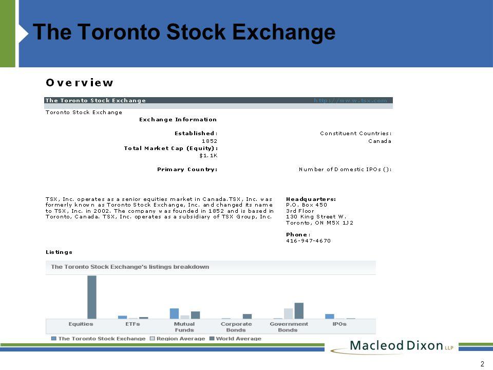 The Toronto Stock Exchange 2