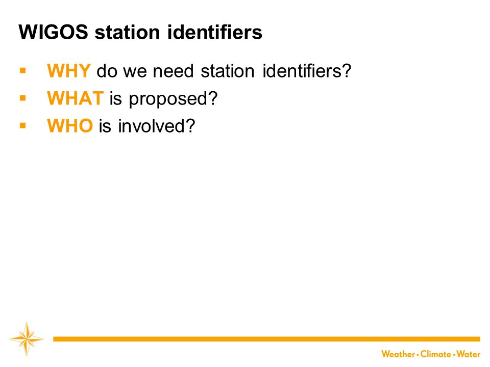 Why do we need station identifiers.
