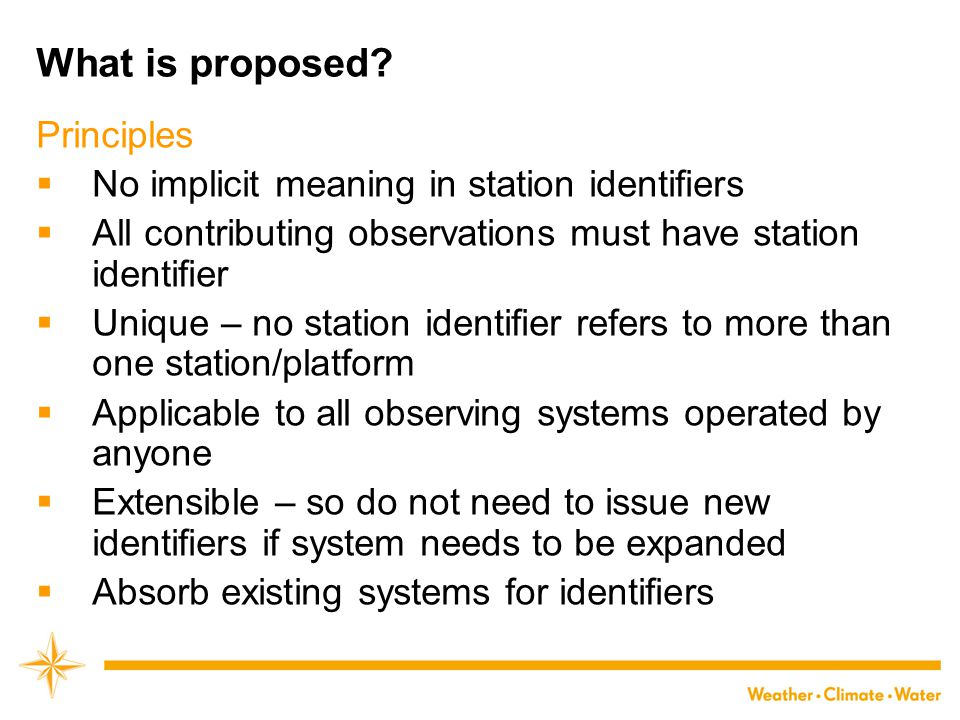 What is proposed.