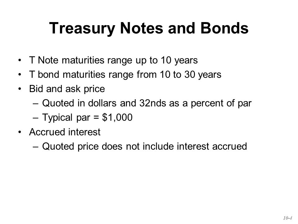 Corporate Bonds & Debt Most bonds are traded over the counter Par = $1,000 Registered versus Bearer bonds Call provisions Convertible provision Put provision (putable bonds) Floating rate bonds Preferred Stock 10-5