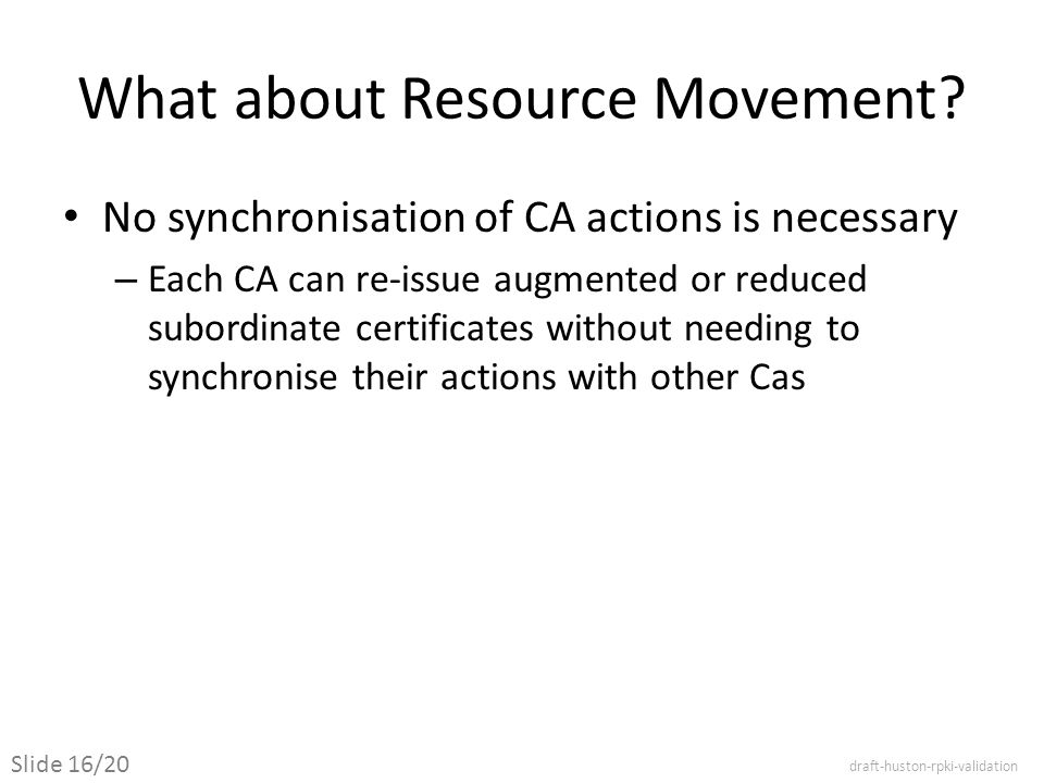 What about Resource Movement.