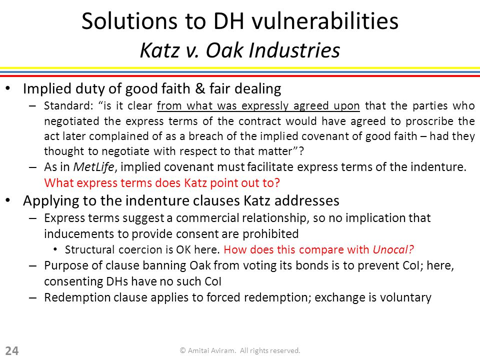 Solutions to DH vulnerabilities Katz v.