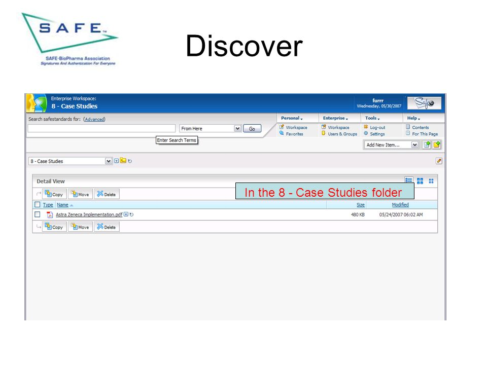 Discover In the 8 - Case Studies folder