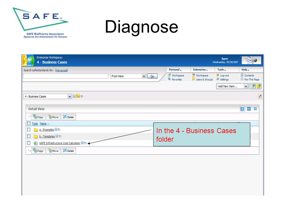 Diagnose In the 4 - Business Cases folder