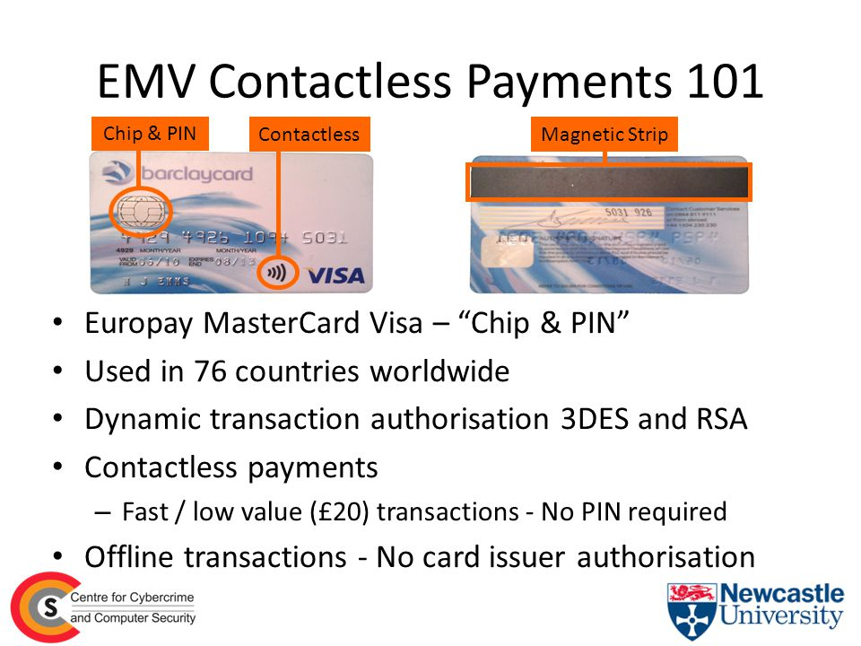 Overview of Our Work Analysis of EMV contactless payment protocol – Contactless cards and mobile payments Software emulation of the contactless protocol Z abstract model of contactless protocol Methodology establishes link between real world errors and the EMV specification – Bad implementation by card manufacturer – Fundamental flaw in the specification Practical demonstrations for general public