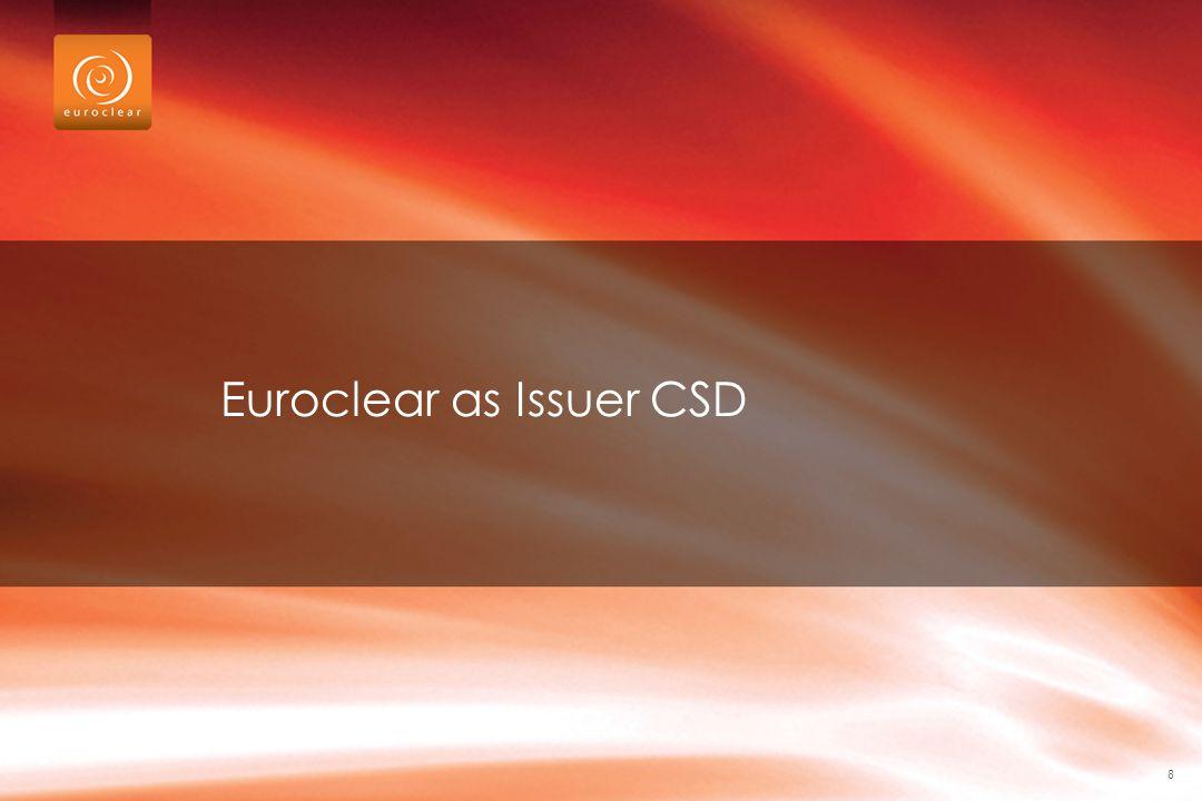 Euroclear as Issuer CSD 8