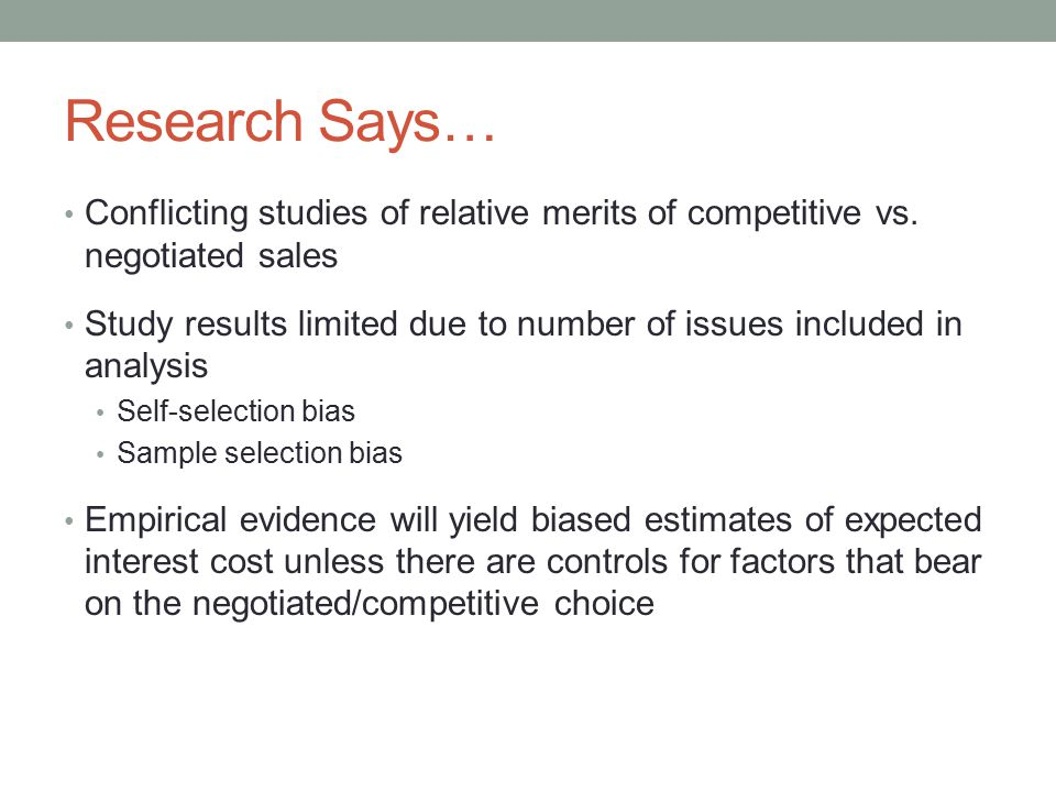 Research Says… Conflicting studies of relative merits of competitive vs.