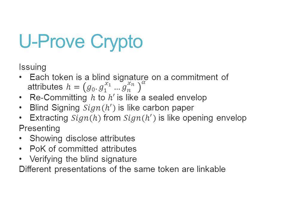 U-Prove Crypto