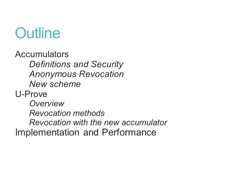 Accumulator Primitives Accumulate: Aggregate a set of elements into a single value V.