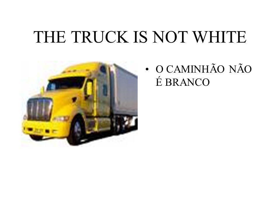 THE TRUCK IS NOT WHITE O CAMINHÃO NÃO É BRANCO