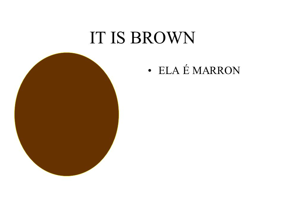 IT IS BROWN ELA É MARRON